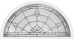 Marquise™ glass features a granite glass surround with an inner layer of clear beveled glass also surrounding glue chip beveled glass with platinum caming.