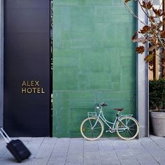 """""""This weekend we'll take a look inside the Alex Hotel, Perth. Designed by interior design firm Arent&Pyke and Architects Space Agency lobby # bistro Facade Design, Exterior Design, Commercial Design, Commercial Interiors, Perth, Alex Hotel, Spa Hotel, Hotel Motel, Hotel Decor"""