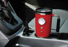 And keep your coffee steaming with a heated travel mug.