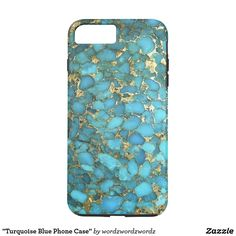"""""""Turquoise Blue Phone Case"""" iPhone 8 Plus Case. Contoured to fit the Apple iPhone 8 Plus, this Case-Mate case features a hard shell plastic exterior and shock absorbing liner to protect your device. Cheap Iphone 7 Cases, Iphone Cases Disney, Iphone Phone Cases, Iphone 5s, Iphone Case Covers, Apple Iphone, Custom Iphone Cases, Laptop Cases, Samsung Cases"""