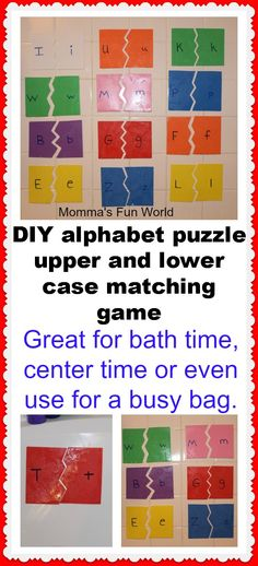 Alphabet Puzzle Learning Bath game...matching upper and lower case letters.