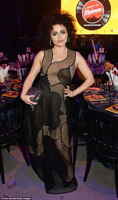 Stepping back in time: Helena Bonham Carter embraced the 60s theme as she hosted a Night Of Motown charity gala for Save The Children UK at London's Roundhouse on Thursday evening