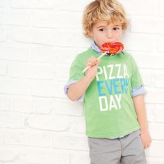 Pizza EVERY day! Cameron NEEDS this!