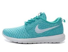 brand new 10adf 7689c 2016 Latest Nike Roshe Run Flyknit Womens Running Shoes Outlet Grass White