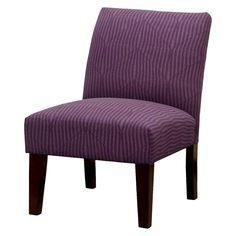 Skyline Slipper Chair   Aubergine Arrows