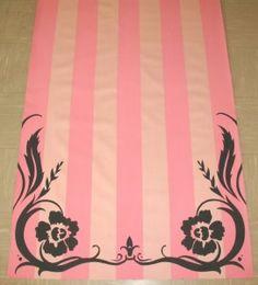 pink stripes & swirls.  Custom runner by Original Runner Co.   www.originalrunners.com