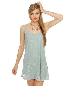 Lost Florence Lace Mint Blue Dress