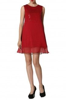 Chiffon Baby Doll Dress By Michelle Salins  Rs. 6,750