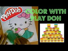 Play doh Coloring Page: Hello Kitty pastel strawberry - YouTube