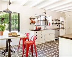 Transitional (Eclectic) Kitchen by Jessica Helgerson