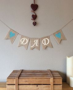 ❤️ Fathers Day Dad Birthday Hessian Bunting Banner Burlap Rustic ❤️ #Unbranded #AllOccasions