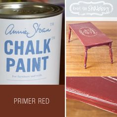 Primer Red Chalk Paint® | Deep red ochre is a colour found in practically every culture from Venetian palaces to Vietnamese temples. Red earths were plentiful and relatively easy to come by so the colour is often associated with the colour for priming furniture and as the base coat for gilding. It is a wonderful colour on its own or as a base for other colours particularly when distressing.