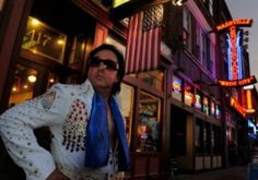 Nashville Elvis Impersonator Chuck Baril on Broadway. #nashvilleelvis