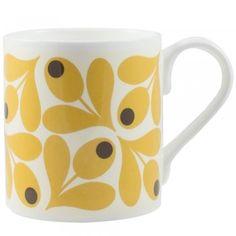 Orla Kiely Saffron Acorn Cup Mug - Orla Kiely from eggcup & blanket UK