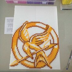 Mockingjay Hunger Games hama beads by elsoknight