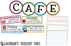 CAFE headers from Ladybug's Teacher Files-Free!  She is awesome! I love her stuff