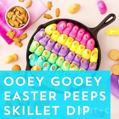Get the Easter party started with this Peeps Skillet Dip recipe.