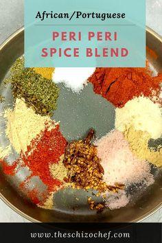 Piri Piri - Mozambique Spice Blend - Piri Piri is a spice blend used in many Portuguese colonized countries from Mozambique to Brazil and in Portugal. Homemade Spice Blends, Homemade Spices, Homemade Seasonings, Piri Piri, Spice Rub, Spice Mixes, African Spices, Portuguese Recipes, Portuguese Food