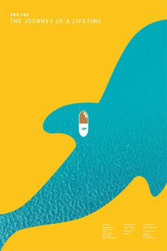 Life of Pi (2012) ~ Minimal Movie Poster by Calix Wong #amusementphile