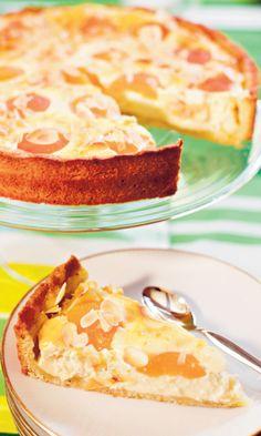 Rahka-aprikoositorttu | Maku Finnish Recipes, Sweet Pie, No Bake Cake, Baked Goods, Baking Recipes, Sweet Tooth, Sweet Treats, Cheesecake, Food And Drink