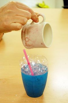 Bubble & Shaving Foam Painting Pottery Ceramics Paint Your Own DIY - Kinda chessy on its own, but could be useful when building up layers of glazes