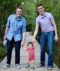 Ryan et Marcin avec leur fils
