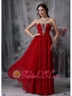 Beautiful Red Strapless Chiffon Prom / Evening Dress with Beading  http://www.fashionos.com  You're ready for the red carpet in this stunning strapless evening gown. This strapless red prom dress was inspired by the amazing design with fantastic rhinestones covering the bustline. Completed with hiddern zipper back and elegant ruched bodice, it is just a fierce long red strapless dress that exudes confidence while accentuating your sexy curves.
