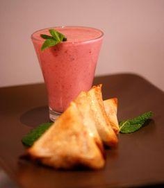 [RECETTE #9] Lassi litchi-framboises et samossas de riz aux poires et épices - Produit Patak's associé : Chutney de mangue