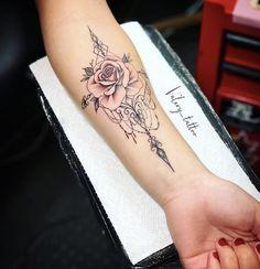 (notitle) - Denise Palmer Swan - Tattoo Frauen Unterarm - Tattoo World Swan Tattoo, Rose Tattoo Forearm, Forarm Tattoos, Body Art Tattoos, Small Tattoos, Sleeve Tattoos, Flower Tattoos, Tatoos, Arm Tattos