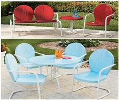 retro patio furniture review , give more benefit for us---think my problem is an old glider, but the table is a newer glass top.  They don't mesh.