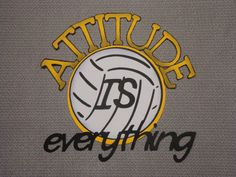 Scrapbooking Diecut Volleyball ATTITUDE is by StampnNScrapn, $2.50 Volleyball Decorations, Volleyball Crafts, Locker Decorations, Volleyball Mom, Volleyball Drills, Volleyball Quotes, Cheerleading, School Scrapbook, Scrapbook Pages
