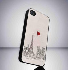 Eifel tower paris in Love iPhone 5 BLACK case