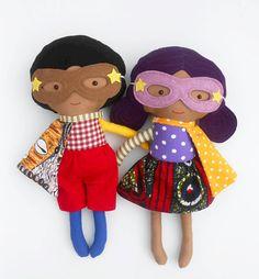 RAG DOLLS, black dolls, dolls, fabric dolls, afro american dolls, african american doll, doll pair, twin dolls, soft toys, dress up dolls,