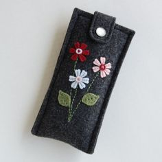 Spring Flowers Pencil Case by the BlueDaisy on Etsy