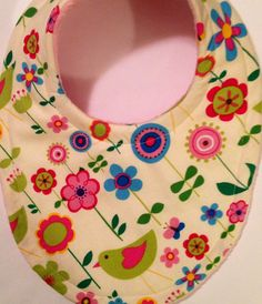 Baby bib In Springtime super absorbent Triple Layer Bib Mom Approved on Etsy, $7.99