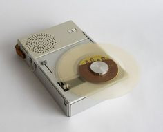 this beautiful object by 50′s designer dieter rams is really something to look at. the record player was a portable 45rpm braun named TP1 and designed in 1959 for mass distribution. they simply don't make them that well. great gift for a hobbiest record lover.