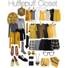I love because I'm a potter head and I'm a hufflepuff Harry Potter Mode, Estilo Harry Potter, Harry Potter Outfits, Look Girl, Fandom Outfits, Fandom Fashion, Casual Cosplay, Zooey Deschanel, Character Outfits