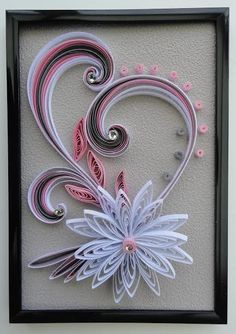 Quilling would be the art of constructing shots, objects and items from coils of paper which have been molded into various distinct shapes or structures Neli Quilling, Paper Quilling Flowers, Paper Quilling Cards, Origami And Quilling, Paper Quilling Patterns, Quilled Paper Art, Quilling Paper Craft, Paper Cards, Origami Flowers