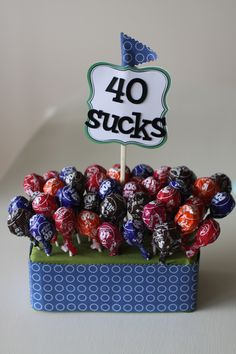 Cute idea for 40th birthday gift....though, 40 does NOT really suck (not that I know yet!)
