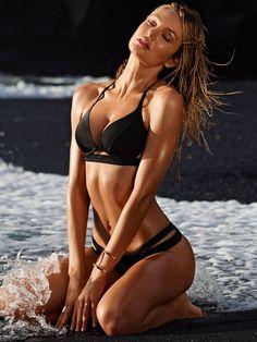 Candice Swanepoel is sexy bombshell for Victoria's Secret Swimwear 2015. #vsswim #candiceswanepoel