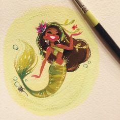 green mermaid, by liana hee