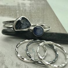 Gemstone stacking rings made by MoodiChic Jewelry on Etsy. #jewelry #rings #bridesmaid #giftforher