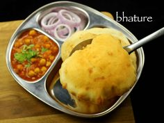 bhatura recipe, punjabi bhature, bhatura for chole bhatura with step by step photo/video recipe. bhatura from punjab cuisine is served with chole masala Vegetable Soup Recipes, Chickpea Recipes, Bhatura Recipe, Naan Recipe, Kitchen Recipes, Cooking Recipes, Punjabi Cuisine, Punjabi Food