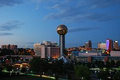 Knoxville!  stay at the downtown hilton, perfect view of the stadium and the fireworks