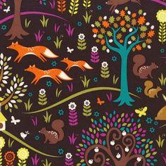 Norwegian Woods - Foxtrot Jewel by Michael Miller fabrics