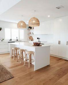 Kitchen Room Design, Home Decor Kitchen, Interior Design Kitchen, Kitchen Living, New Kitchen, Home Kitchens, Casa Clean, Küchen Design, Kitchen Remodel