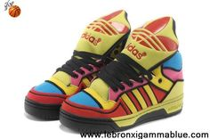 Buy 2013 New Adidas X Jeremy Scott Big Tongue Color Shoes Newest Now