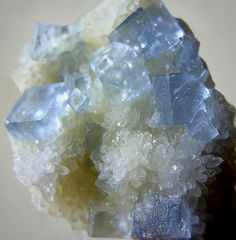 Fluorite -New Mexico. Light blue is very special and fascinating to me
