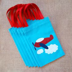 Airplane Favor Bags