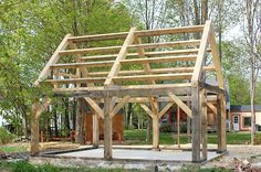 Timber frame construction was used by early settlers. It is recognized by its large timbers and intricate joints. The strong structural timbers support the roof without the need for support from the walls. To give lateral support and to help resist the wind, diagonal knee braces are used throughout.There are many different ways to complete …